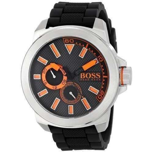 846d7319b9f9 Reloj Hugo Boss 1513011 Silicona Negro Hombre -   356.900 en Mercado ...