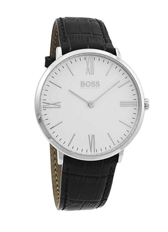 8e901c60d431 Reloj Hugo Boss Jackson Acero Piel Negro Hombre 1513370 -   3