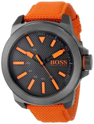 reloj hugo boss naranjado