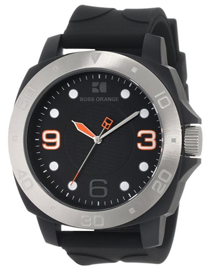 2f8bb956c431 reloj hugo boss orange acero silicón negro hombre 1512664. Cargando zoom.