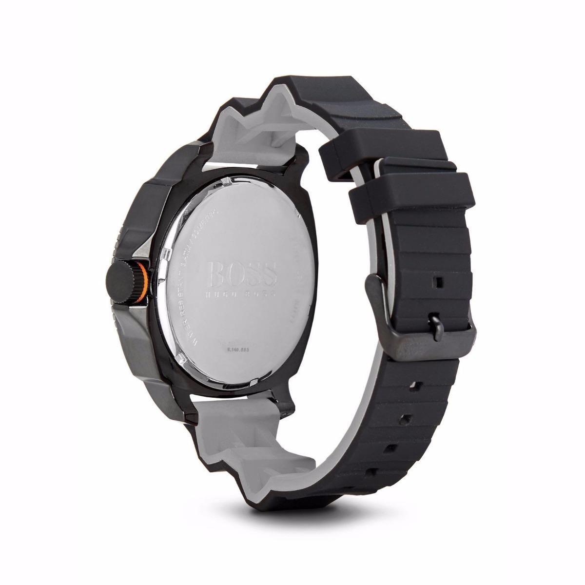 1c3559bf56a8 reloj hugo boss orange acero silicón negro hombre 1513106. Cargando zoom.