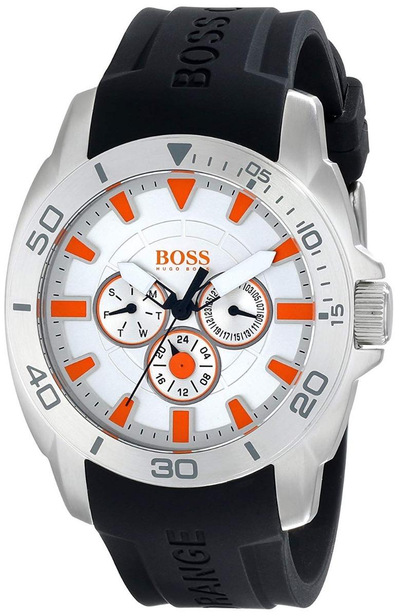 1e01eb986bb4 reloj hugo boss orange cab negro silicon 1512955. Cargando zoom.