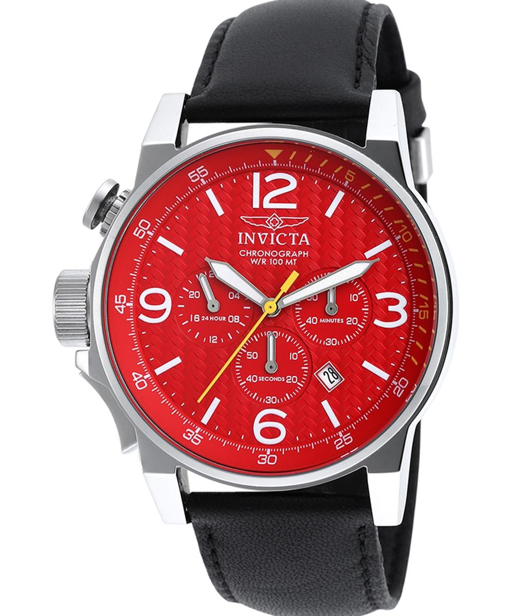 dff5d00f8065 Reloj I-fuerza Chrono Negro Cuero Autentico Invicta 20133sy ...