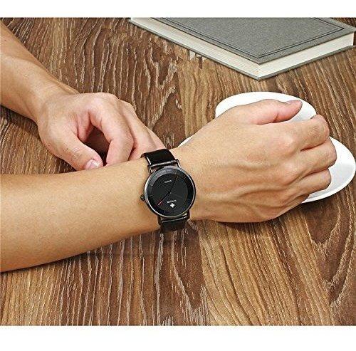 reloj impermeable de cuarzo analógico ultra delgado de wwoor