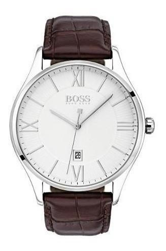 reloj importado hugo boss cuero y acero inoxidable nuevo
