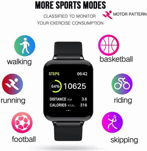 reloj inteligente besoner b57 bluetooth deportivo ip67