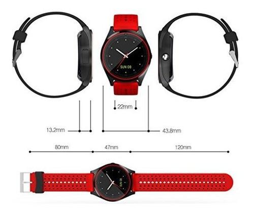 reloj inteligente bluetooth kkcite visualizacion tactil inte