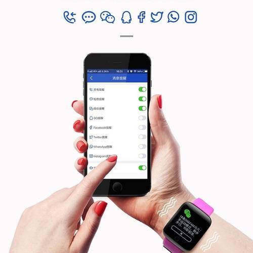 reloj inteligente bluetooth notificaciones calorías monitor
