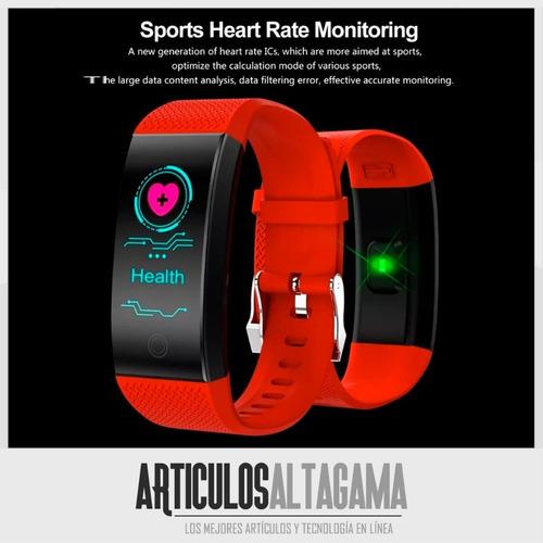reloj inteligente brazalete mymobile sensor ritmo cardiaco