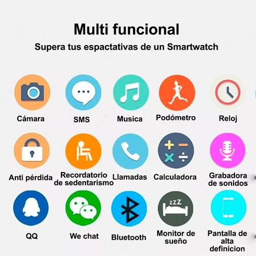 reloj inteligente celular smartwatch q18 sim camara bluetoot