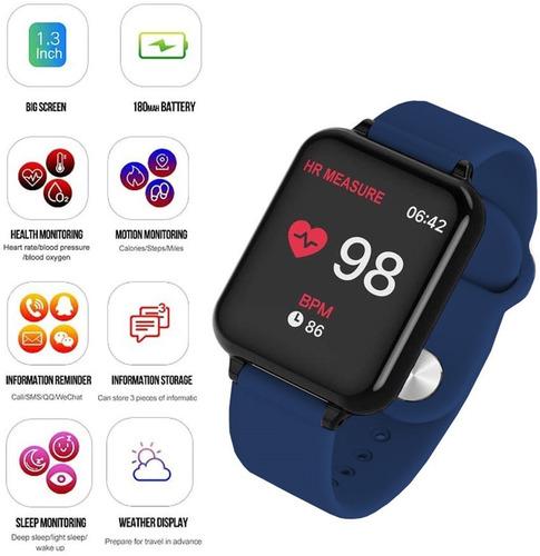 reloj inteligente deportivo impermeable con 2 correa