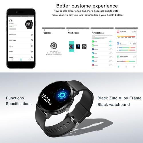 reloj inteligente deportivo v11 con monitor cardíaco