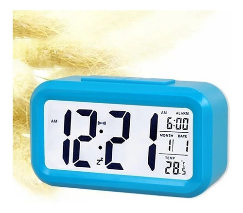 reloj inteligente despertador digital luz blanca reloj hombr