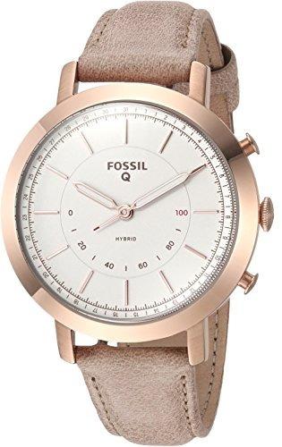 reloj inteligente híbrido fósil - q neely hueso cuero ftw5