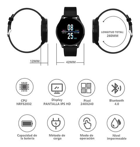 reloj inteligente impermeable con seguidor de actividad