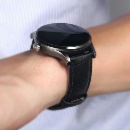 reloj inteligente k88h 100% original pulso negro en cuero
