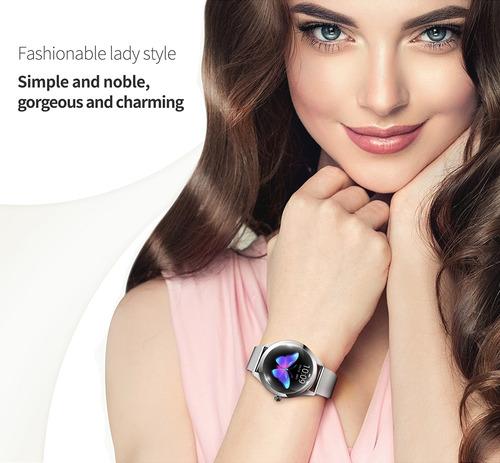reloj inteligente kingwear kw10 sportwatch mujeres ip68