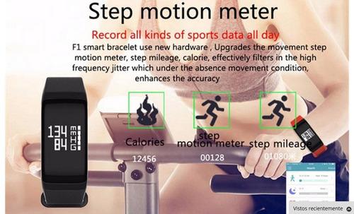 reloj inteligente monitor ritmo cardiaco presion podometro