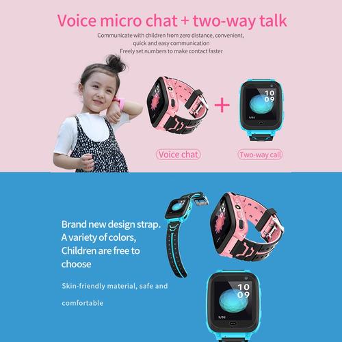 reloj inteligente niños tarjeta sim ipx7 impermeable rosa