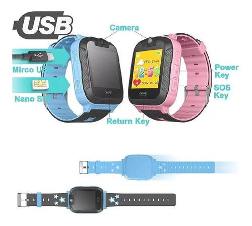 reloj inteligente para niños con gps sos.
