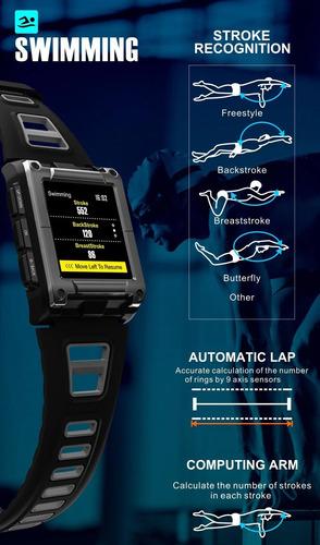 reloj inteligente s929 smart watch rojo gps bluetooth hombre