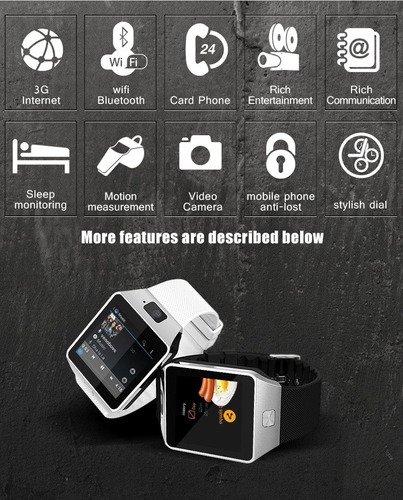 reloj inteligente smart watch qw09  so android 4.4 wifi 2gb