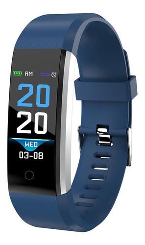 reloj inteligente smartwatch 115 bluetooth android ios azul