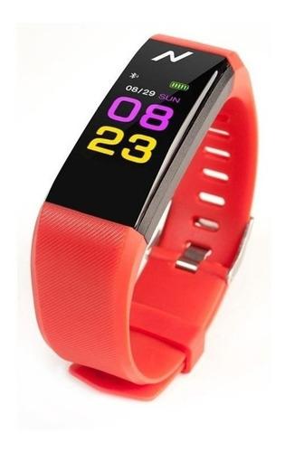 reloj inteligente smartwatch 115 bluetooth android ios rojo