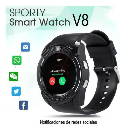 reloj inteligente smartwatch android v8 smart celular+ envio