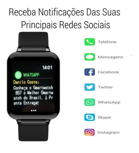 reloj inteligente smartwatch b57 android para hombre y mujer