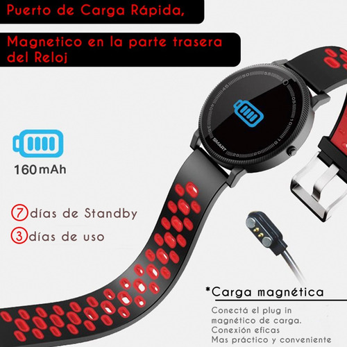 reloj inteligente smartwatch f4 hombre deportes whatsapp