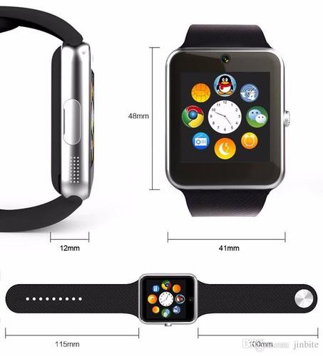reloj inteligente, smartwatch, gt08 notifica whatsapp, redes