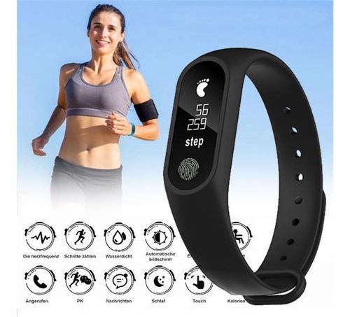 reloj inteligente smartwatch m2 fit monitor cardiaco pulso
