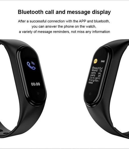 reloj inteligente smartwatch m5 android llamada unisex negro