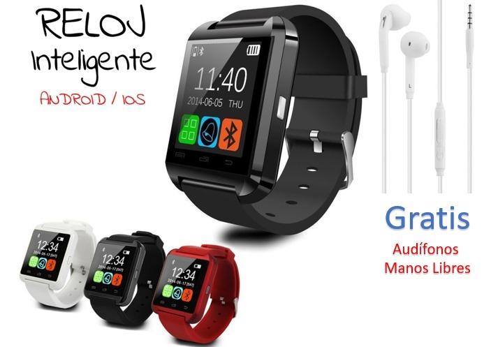 c79b96104ec Reloj Inteligente Smartwatch U8 Bluetooth + Gratis Audífonos - $ 39.900 en Mercado  Libre