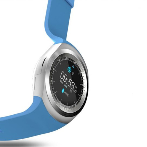 reloj inteligente smartwatch y1 bluetooth color azul oferta