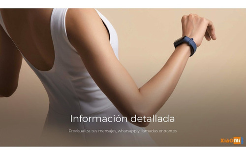 reloj inteligente xiaomi mi band 3 bluetooth sumergible 50m.