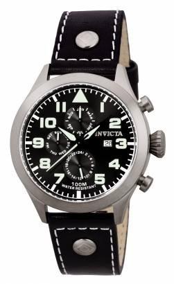 reloj invicta 00353 hombre cuero cronometro 100m sumergible