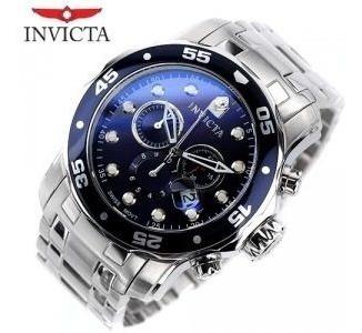 reloj invicta 0070 pro diver plata fond azul - 1año garantia