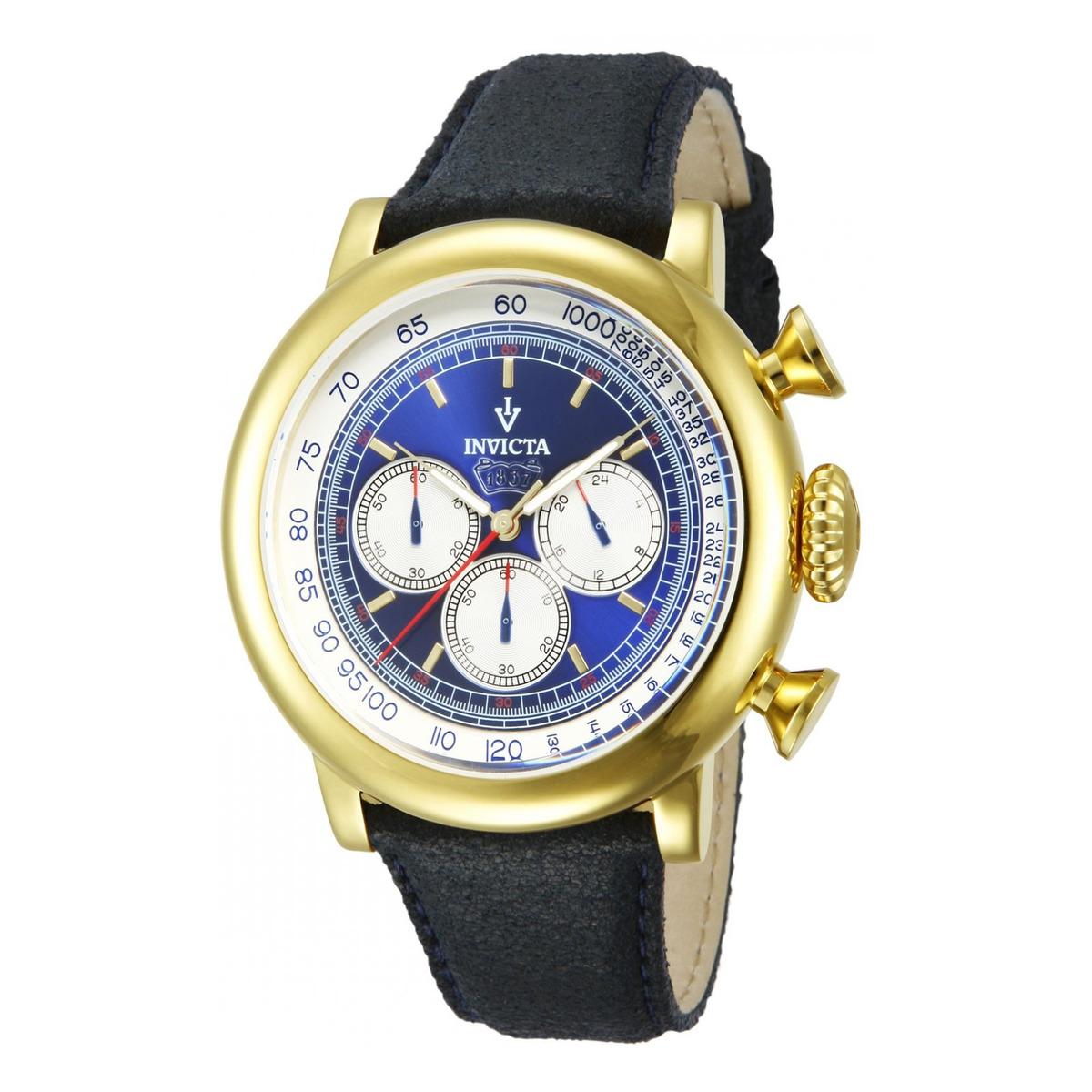 ebeae4c90bca Reloj Invicta 13057 Cuero Azul Hombre -   409.900 en Mercado Libre