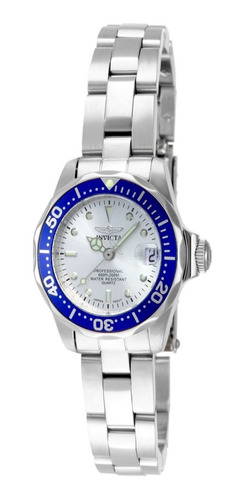 reloj invicta 14125 acero plateado mujer