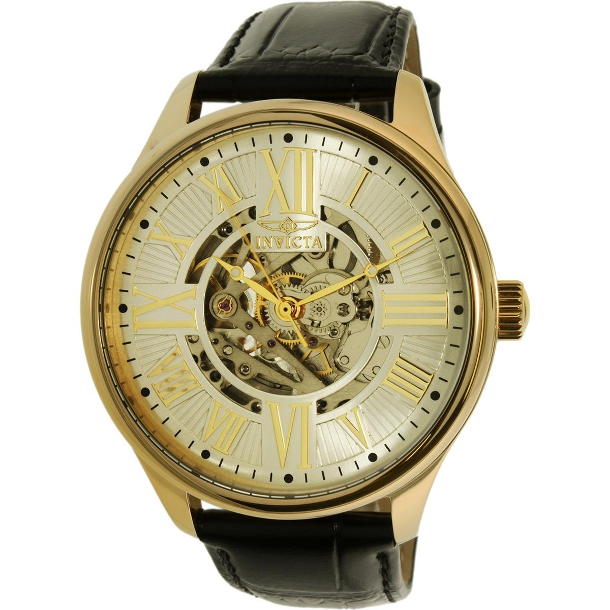 c9049f10d4da reloj invicta 22568 vintage con cuero genuino negro p hombre. Cargando zoom.