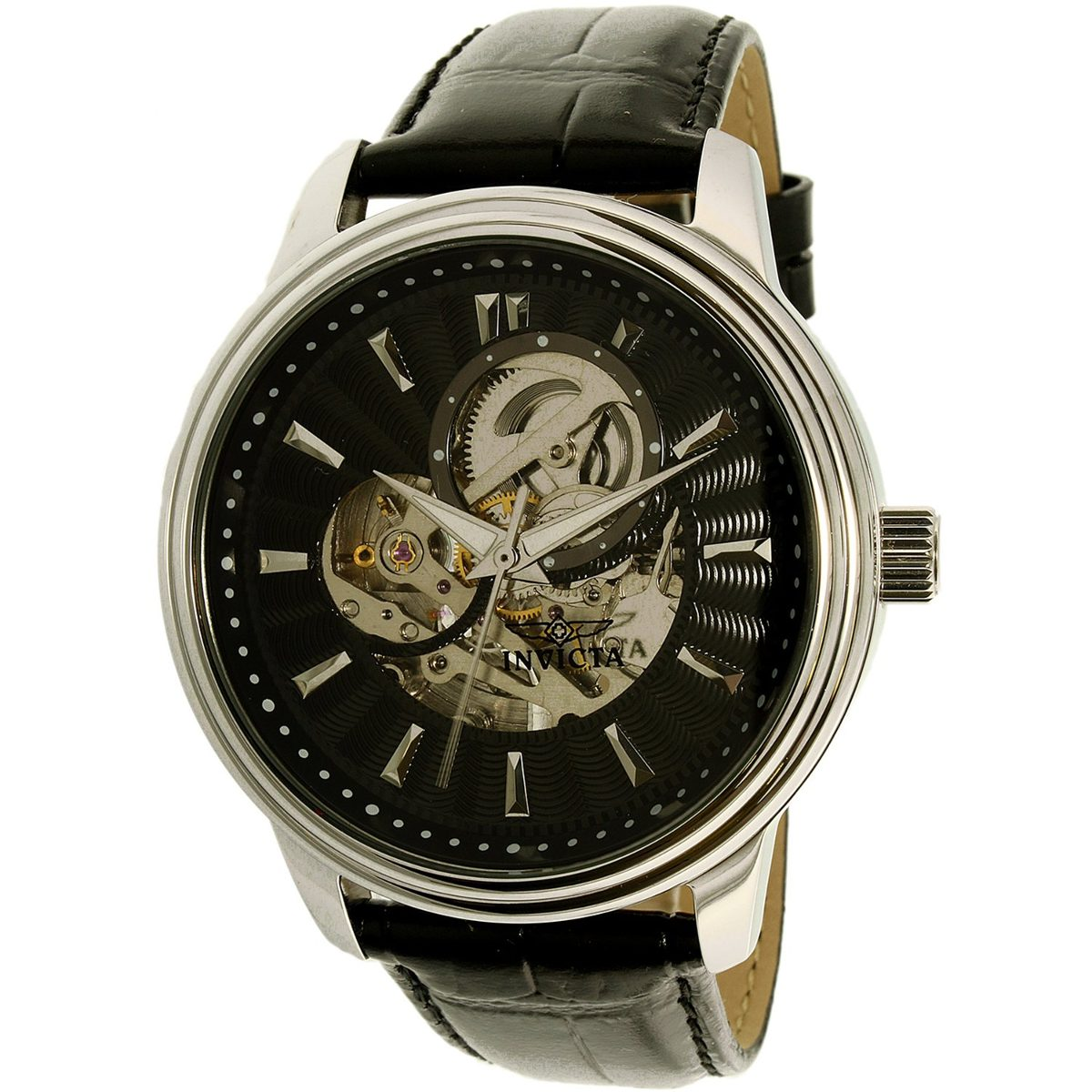 98f5312d7aa9 reloj invicta 22577 vintage automático cuero legítimo hombre. Cargando zoom.