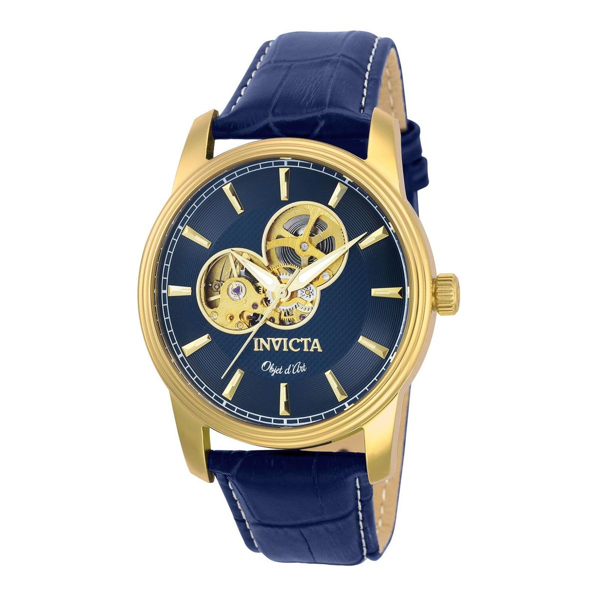55ed2de68573 Reloj Invicta 22617 Cuero Azul Marino Hombre -   819.900 en Mercado ...