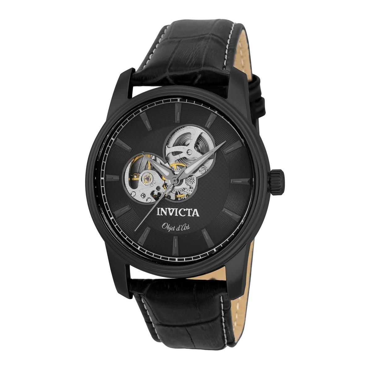 792893c80a18 Reloj Invicta 22619 Cuero Negro Hombre -   819.900 en Mercado Libre