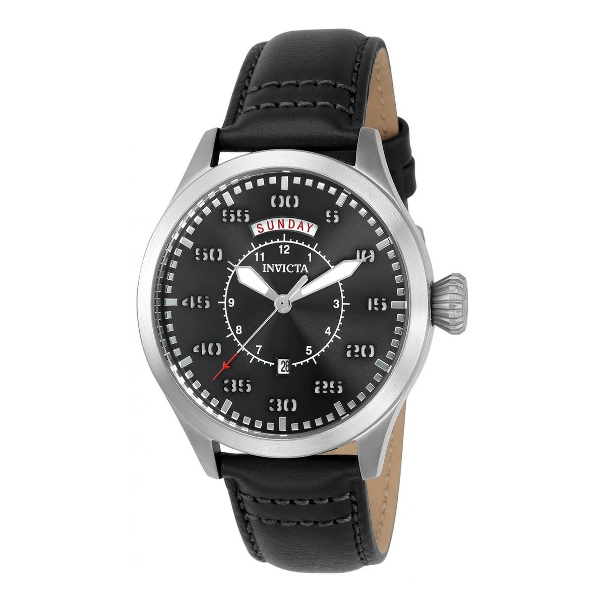 6ab7e0916ec7 Reloj Invicta 22972 Cuero Negro Hombre -   299.900 en Mercado Libre