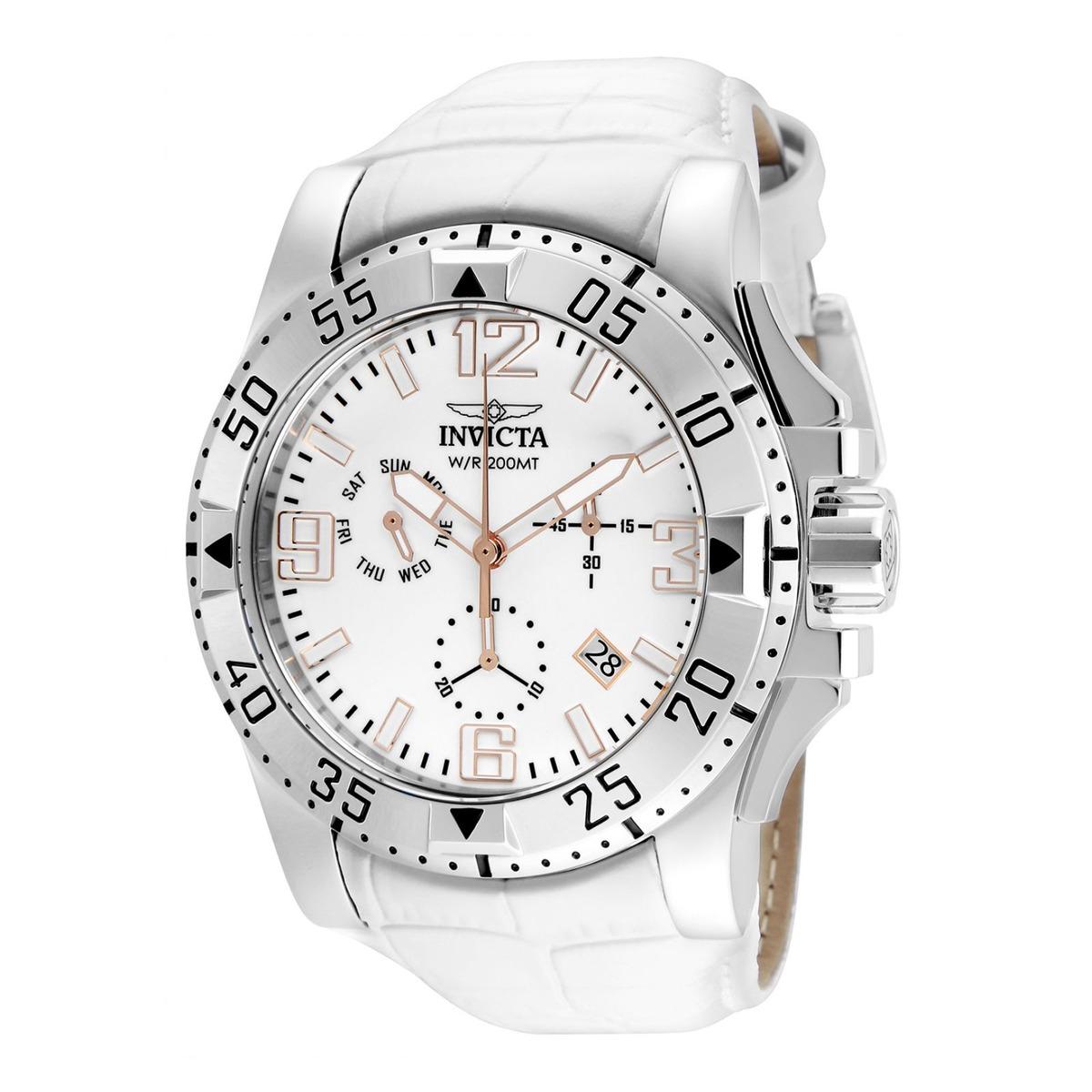 15bf5053c0b6 Reloj Invicta 24352 Cuero Blanco Hombre -   749.900 en Mercado Libre
