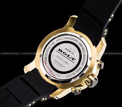 reloj invicta 51mm signature bolt cronógrafo con esfera negr