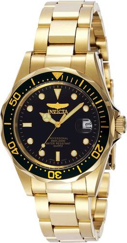 reloj invicta 8935/6/7 pro diver acero gold inoxida-original