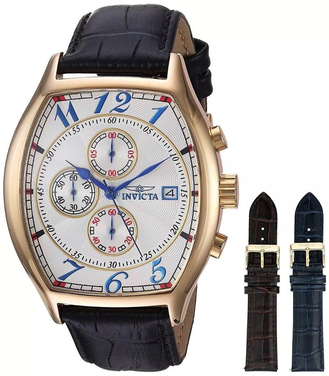 9f3efdd19f49 Reloj Invicta Edición Especial Oro De 18k 3 Correas De Piel ...